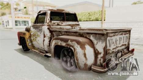 GTA 5 Slamvan Lowrider pour GTA San Andreas vue intérieure