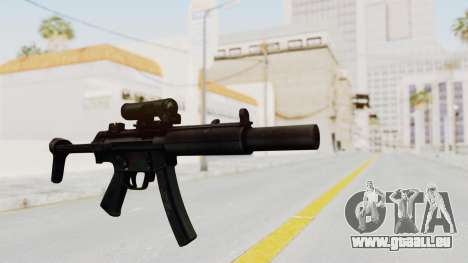 MP5SD pour GTA San Andreas deuxième écran