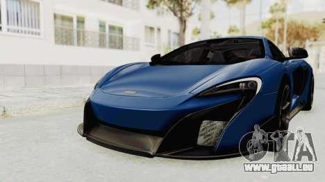 McLaren 675LT Coupe v1.0 pour GTA San Andreas vue de droite