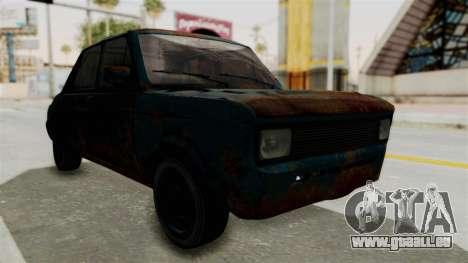 Zastava 1100 Rusty für GTA San Andreas rechten Ansicht