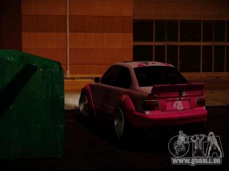 BMW M3 E36 Pinkie Pie pour GTA San Andreas vue arrière