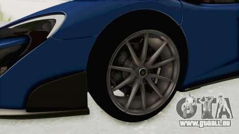 McLaren 675LT Coupe v1.0 pour GTA San Andreas vue arrière