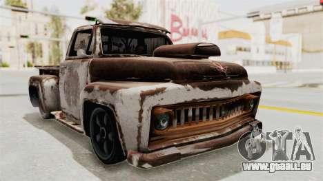 GTA 5 Slamvan Lowrider pour GTA San Andreas vue de côté