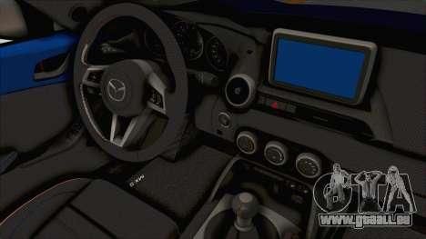 Mazda MX-5 Slammed pour GTA San Andreas vue intérieure