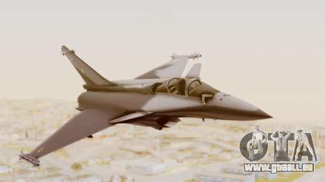 Dassault Rafale Indian Air Force pour GTA San Andreas sur la vue arrière gauche