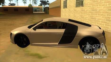 Audi R8 5.2 V10 Plus pour GTA San Andreas laissé vue