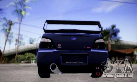 Subaru impreza WRX STi LP400 v2 pour GTA San Andreas vue arrière