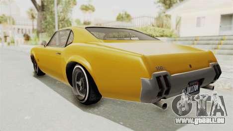 GTA 5 Declasse Sabre GT2 A IVF pour GTA San Andreas laissé vue
