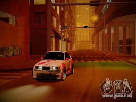 BMW M3 E36 Pinkie Pie pour GTA San Andreas vue intérieure