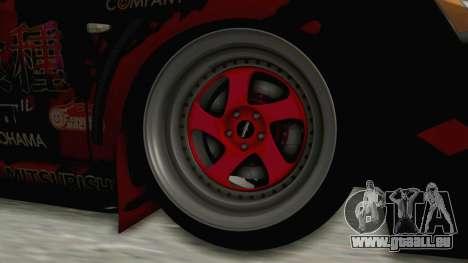 Mitsubishi Lancer Evolution X Ken Kaneki Itasha pour GTA San Andreas vue arrière