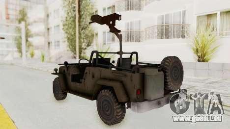 MGSV Jeep pour GTA San Andreas laissé vue