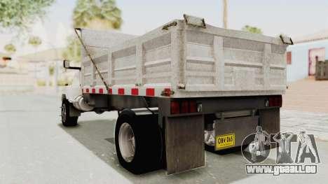 Chevrolet Kodiak Dumper Truck pour GTA San Andreas laissé vue
