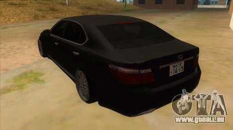 Lexus LS600HL 2008 pour GTA San Andreas sur la vue arrière gauche