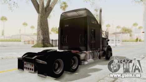 Kenworth T800 Centenario pour GTA San Andreas sur la vue arrière gauche