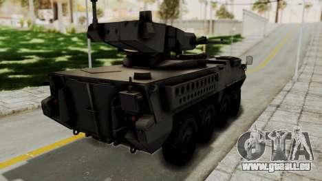 M1128 Mobile Gun System pour GTA San Andreas laissé vue