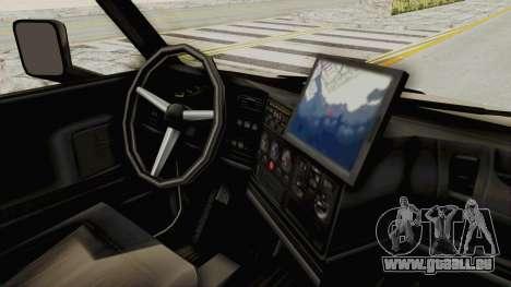 Chevrolet Kodiak Dumper Truck pour GTA San Andreas vue arrière