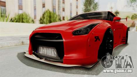 Nissan GT-R R35 Liberty Walk LB Performance v2 für GTA San Andreas zurück linke Ansicht