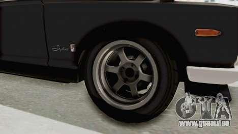 Nissan Skyline KPGC10 1971 Camber für GTA San Andreas Rückansicht
