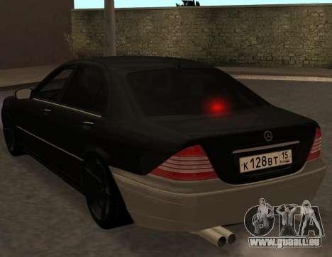 Mercedes S600 W220 JoRick Revazov für GTA San Andreas rechten Ansicht