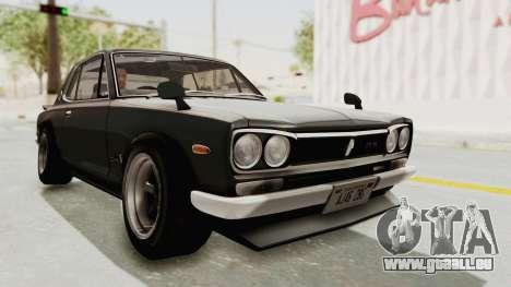 Nissan Skyline KPGC10 1971 Camber für GTA San Andreas rechten Ansicht
