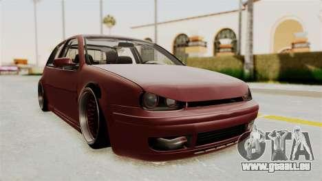 Volkswagen Golf Mk4 V5 Edited pour GTA San Andreas vue de droite