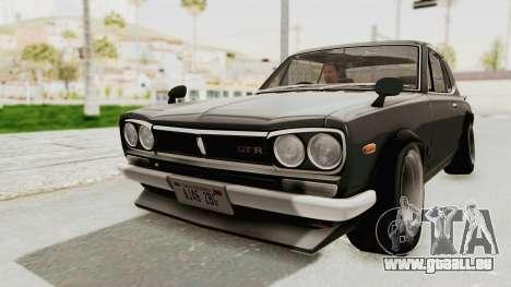 Nissan Skyline KPGC10 1971 Camber für GTA San Andreas