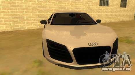 Audi R8 5.2 V10 Plus pour GTA San Andreas vue arrière