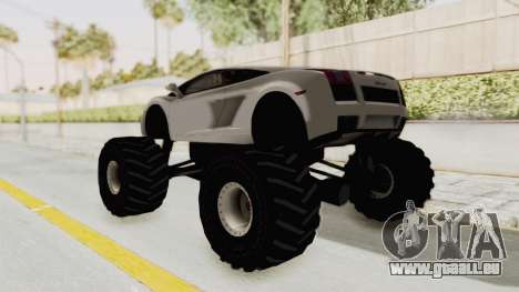 Lamborghini Gallardo 2005 Monster Truck pour GTA San Andreas laissé vue