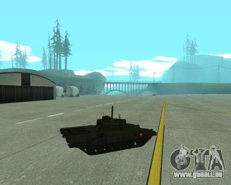 T-14 Armata für GTA San Andreas Seitenansicht