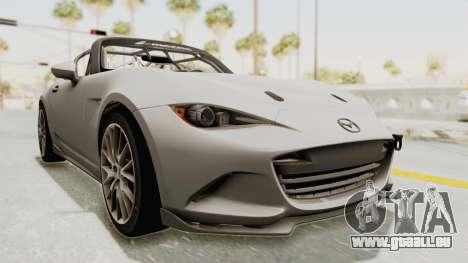 Mazda MX-5 Cup 2015 v2.0 für GTA San Andreas rechten Ansicht