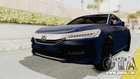 Honda Accord 2017 pour GTA San Andreas sur la vue arrière gauche