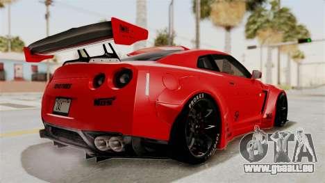 Nissan GT-R R35 Liberty Walk LB Performance v2 für GTA San Andreas rechten Ansicht