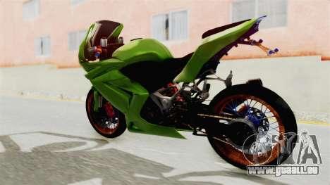 Kawasaki Ninja 250R Asian Style pour GTA San Andreas sur la vue arrière gauche