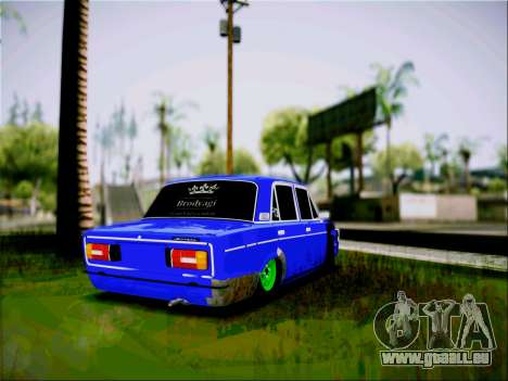 VAZ 2106 Clochard pour GTA San Andreas laissé vue