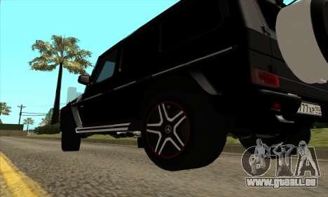 Mercedes G63 Biturbo für GTA San Andreas Innenansicht