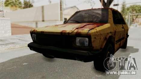 Zastava Yugo Koral 55 Rusty pour GTA San Andreas
