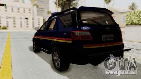 Toyota Fortuner JPJ Dark Blue pour GTA San Andreas laissé vue