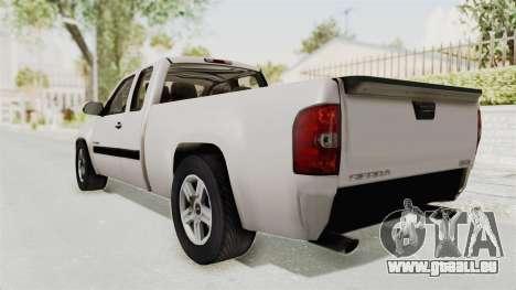GMC Sierra 2010 pour GTA San Andreas laissé vue