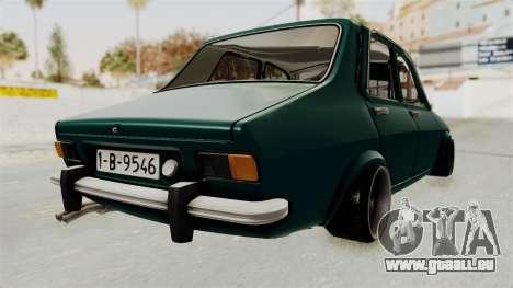 Dacia 1300 Order pour GTA San Andreas sur la vue arrière gauche