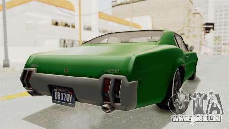 GTA 5 Declasse Sabre GT2 für GTA San Andreas zurück linke Ansicht