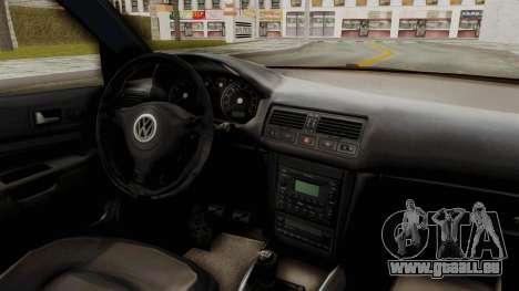 Volkswagen Golf Mk4 V5 Edited für GTA San Andreas Innenansicht