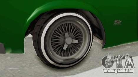 GTA 5 Declasse Sabre GT2 für GTA San Andreas Rückansicht