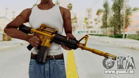 M4A1 Gold pour GTA San Andreas troisième écran