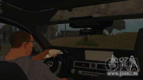 Lexus LS600HL 2008 pour GTA San Andreas vue intérieure