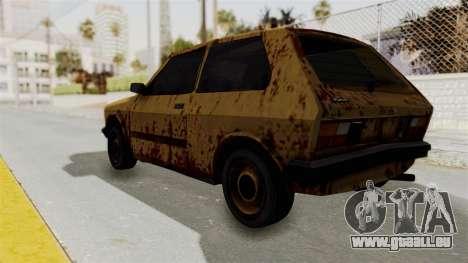 Zastava Yugo Koral 55 Rusty pour GTA San Andreas laissé vue