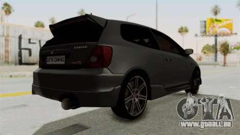 Honda Civic Type R EP3 für GTA San Andreas rechten Ansicht