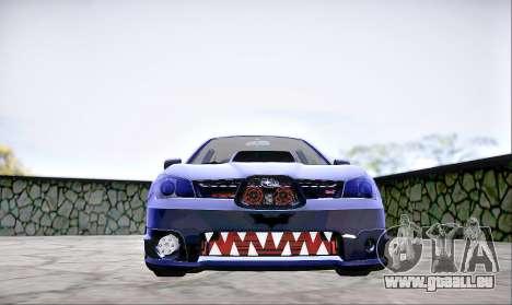 Subaru Impreza WRX STI Dark Knight pour GTA San Andreas vue de droite