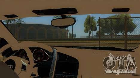 Audi R8 5.2 V10 Plus pour GTA San Andreas vue intérieure
