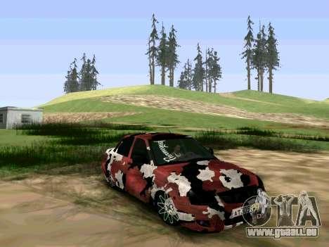 Lada Priora Camouflage pour GTA San Andreas sur la vue arrière gauche