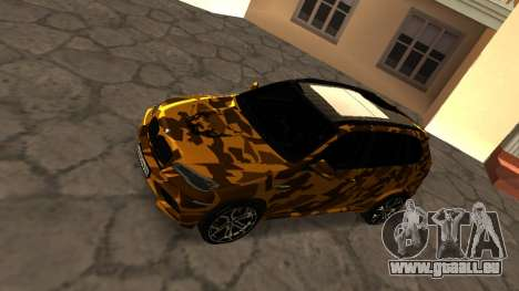 BMW X5M ( Davidich ) pour GTA San Andreas sur la vue arrière gauche